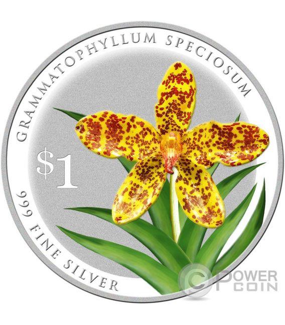 SPLENDOUR OF NATIVE ORCHIDS 10 Moneda Plata Set 1$ Singapore 2016