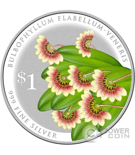 SPLENDOUR OF NATIVE ORCHIDS 10 Silver Coin Set 1$ Singapore 2016