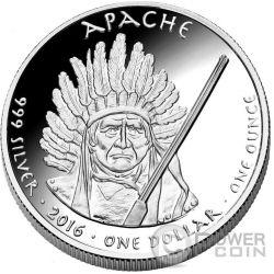 ARIZONA RATTLESNAKE Apache Native State 1 Oz Silber Münze 1$ Dollar Jamul 2016