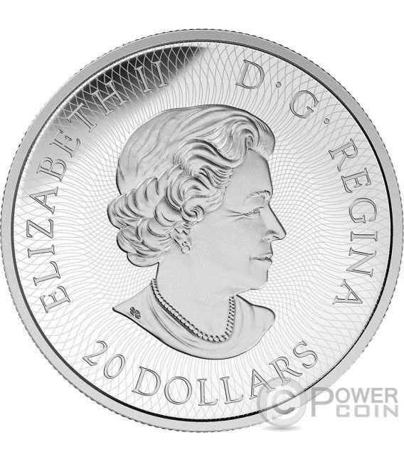 MAPLE LEAF MAZE One Of A Kind Moneda Plata 20$ Canada 2016