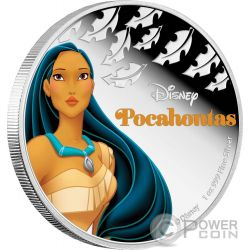 POCAHONTAS Disney Princess 1 Oz Silver Proof Coin 2$ Niue 2016