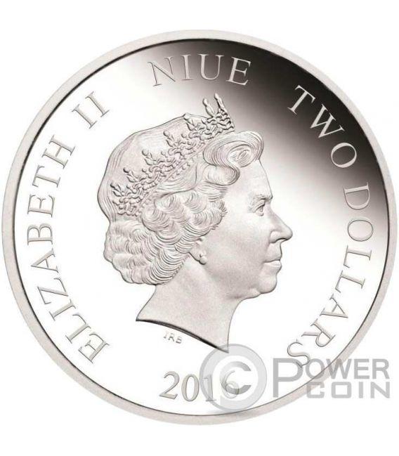 POCAHONTAS Disney Princess 1 Oz Silber Proof Münze 2$ Niue 2016
