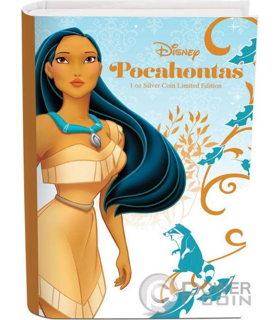 POCAHONTAS Disney Princess Principessa 1 Oz Moneta Argento 2$ Niue 2016