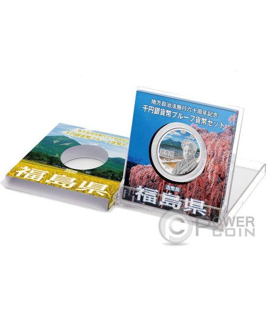 FUKUSHIMA 47 Prefectures (46) Silber Proof Münze 1000 Yen Japan Mint 2016