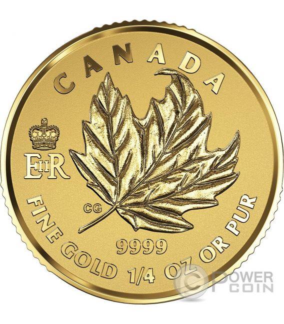 MAPLE LEAF PREMIUM Queen Elizabeth Regina Elisabetta Set 4 Monete Oro Canada 2016