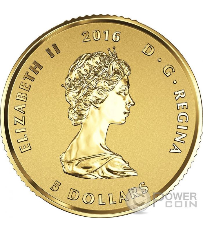 Maple Leaf Premium Queen Elizabeth Set 4 Gold Coin Canada 2016 Power Coin
