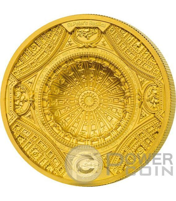 ST PETERS BASILICA 4 Layer Moneda Oro 100$ Cook Islands 2016
