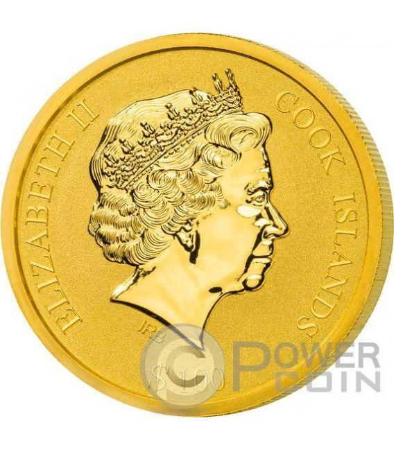 ST PETERS BASILICA San Pietro Moneta Oro 100$ Cook Islands 2016