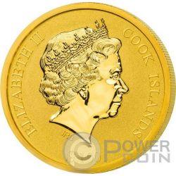 ST PETERS BASILICA 4 Layer Moneda Oro 100$ Cook Islands 2016
