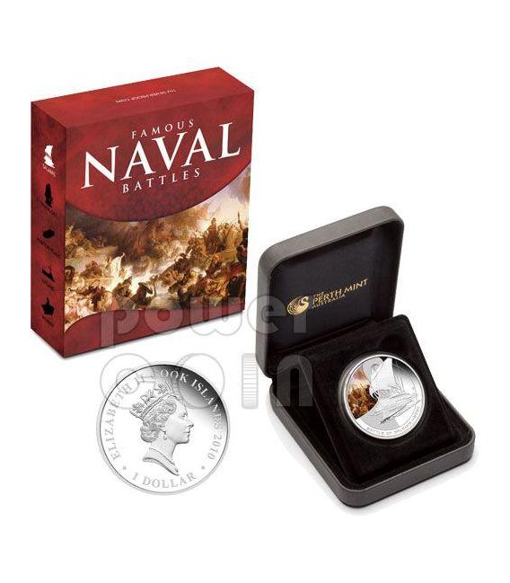 SALAMIS Naval Battle 480 BC Silber Münze 1$ Cook Islands 2010