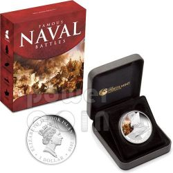 SALAMINA Battaglia Navale 480 AC Moneta Argento 1$ Cook Islands 2010