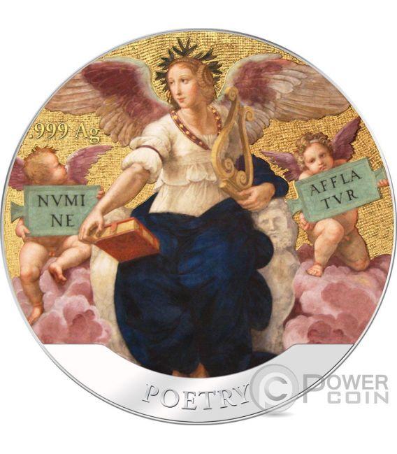 OPUS MAGNIFICUM Raphael Stanza della Segnatura Set 8 Серебро Монета 5$ Соломонские Острова 2016