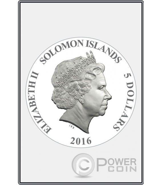 OPUS MAGNIFICUM Raffaello Stanza della Segnatura Set 8 Monete Argento 5$ Solomon Islands 2016