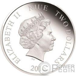 ANNA Disney Frozen Magic of the Northern Lights 1 Oz Серебро Монета 2$ Ниуэ 2016