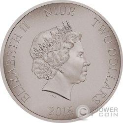 SAMURAI Warriors of History 1 Oz Silver Coin 2$ Niue 2016