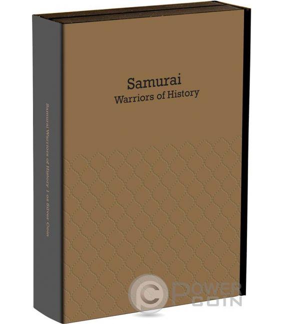 SAMURAI Warriors of History 1 Oz Silber Münze 2$ Niue 2016