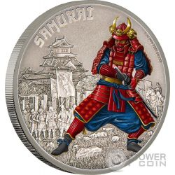 SAMURAI Warriors of History Guerrieri della Storia 1 Oz Moneta Argento 2$ Niue 2016