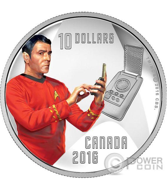 CAPTAIN SCOTTY Star Trek Moneda Plata 10$ Canada 2016