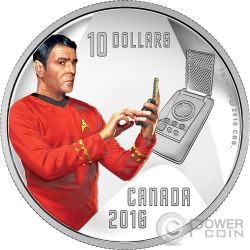CAPTAIN SCOTTY Capitano Star Trek Moneta Argento 10$ Canada 2016