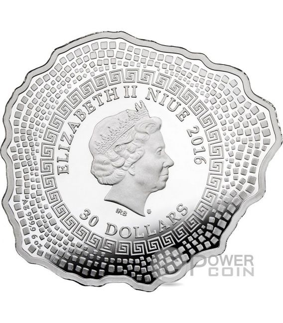 MOUNT VESUVIUS Volcano Shape Proof 6 Oz Silver Coin 30$ Niue 2016