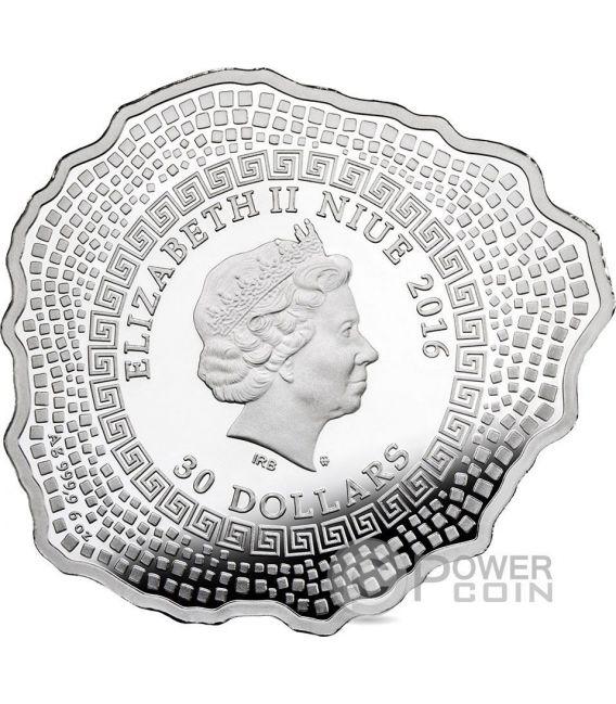 MOUNT VESUVIUS Vulcano Vesuvio Forma Proof 6 Oz Moneta Argento 30$ Niue 2016