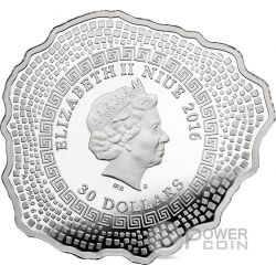 MOUNT VESUVIUS Volcano Shape Proof 6 Oz Moneda Plata 30$ Niue 2016