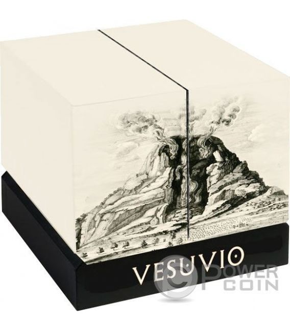 MOUNT VESUVIUS Volcano Shape Proof 6 Oz Silber Münze 30$ Niue 2016