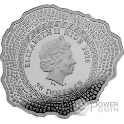 MOUNT VESUVIUS Vulcano Vesuvio Forma Finitura Antica 6 Oz Moneta Argento 30$ Niue 2016