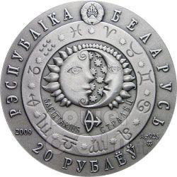 SAGITTARIUS Horoscope Zodiac Swarovski Silver Coin Belarus 2009