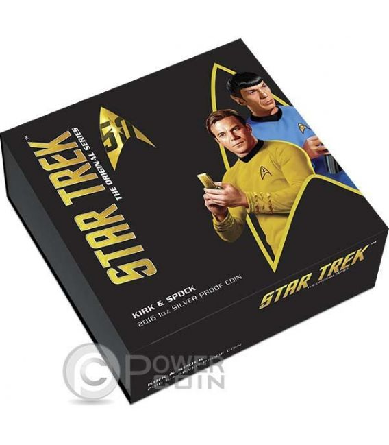 CAPTAIN JAMES KIRK AND SPOCK Star Trek Silver Coin 1$ Tuvalu 2016