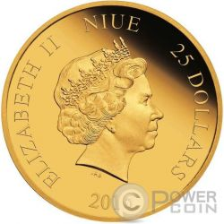 MICKEY BAND CONCERT Through The Ages Disney 1/4 Oz Gold Coin 25$ Niue 2016