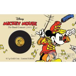 MICKEY BAND CONCERT Through The Ages Disney Gold Münze 2.5$ Niue 2016