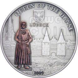 LUBECK Hanseatic League Hansa Silver Coin 5$ Cook Islands 2009
