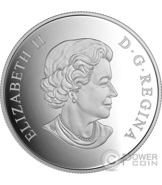 MAPLE LEAF Geometry In Art Dimensional Design Moneda Plata 20$ Canada 2016