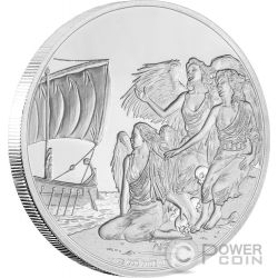 SIRENS Creatures of Greek Mythology Sirene Mitologia Greca 1 Oz Moneta Argento 2$ Niue 2016