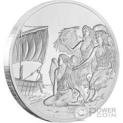 SIRENS Creatures of Greek Mythology Sirene Mitologia Greca 1 Oz Moneta Argento 2$ Niue 2016