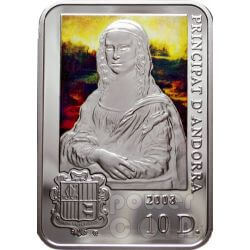 LEONARDO DA VINCI Mona Lisa Moneda Plata 10D Andorra 2008