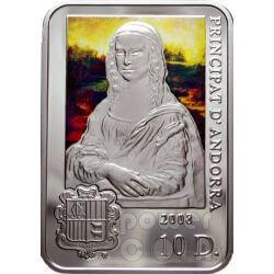 LEONARDO DA VINCI Mona Lisa Silver Coin 10D Andorra 2008