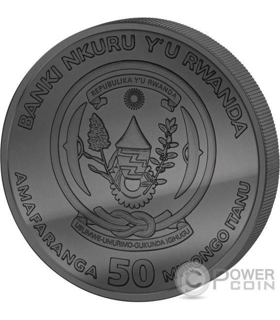 GOLDEN ENIGMA African Meerkat 1 Oz Silber Münze 50 Francs Rwanda 2016