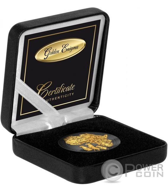 GOLDEN ENIGMA Suricato Africano Meerkat 1 Oz Moneta Argento 50 Franchi Ruanda 2016