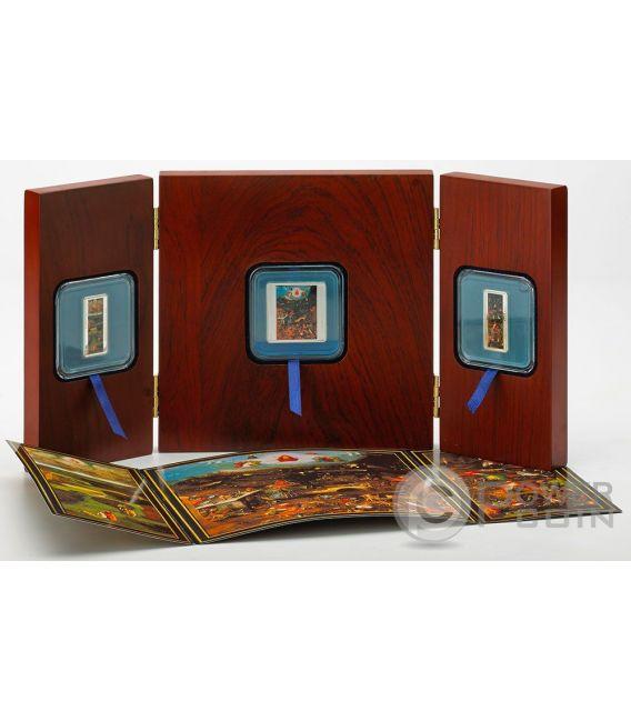 LAST JUDGEMENT Triptych 500th Anniversary Death Hieronymus Bosch Set 3 Moneda Plata Tokelau 2016