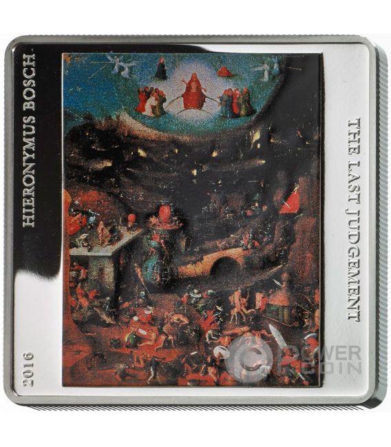 LAST JUDGEMENT Triptych 500th Anniversary Death Hieronymus Bosch Set 3 Silber Münze Tokelau 2016