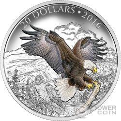 BARONIAL BALD EAGLE Majestic Animal Moneda Plata 20$ Canada 2016
