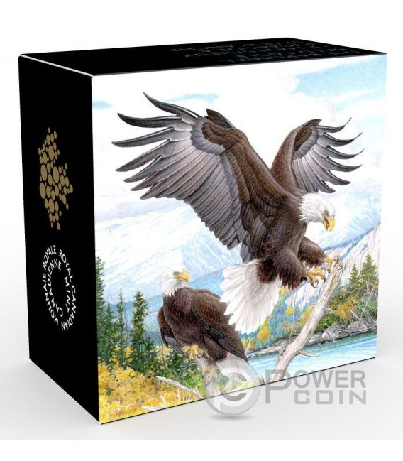 BARONIAL BALD EAGLE Majestic Animal Silber Münze 20$ Canada 2016