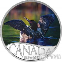 COMMON LOON Celebrating 150th Anniversary Silber Münze 10$ Canada 2017