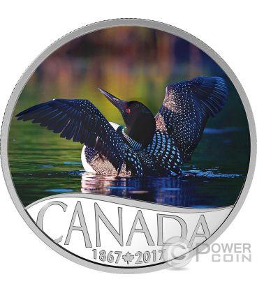 COMMON LOON Celebrating 150th Anniversary Silver Coin 10$ Canada 2017