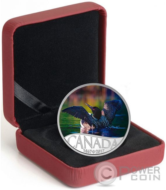 COMMON LOON Celebrating 150th Anniversary Silver Coin 10$ Canada 2017