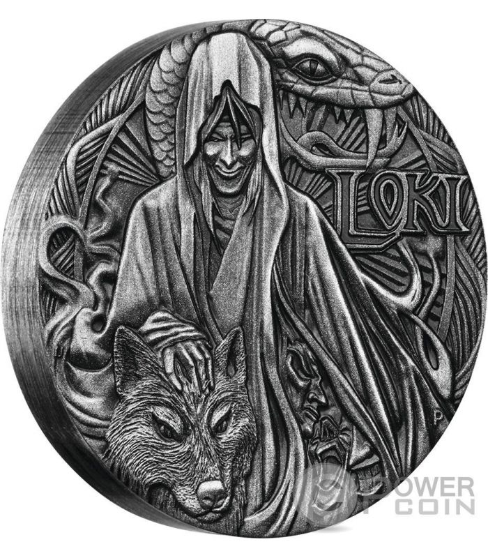 Loki Norse Gods The God Of Fire 2 Oz Silver Coin 2 Tuvalu