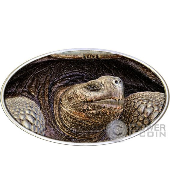 LONESOME GEORGE Tortois Animal Skin 1 Oz Silver Coin 2$ Niue 2015