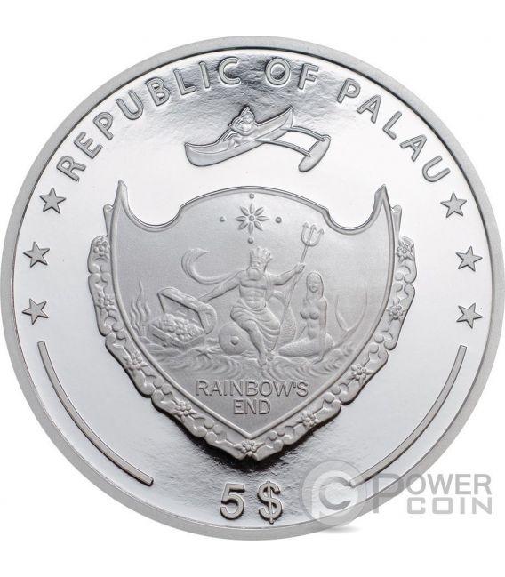 REGAL ANGELFISH Red Sea Marine Life 1 Oz Silber Münze 5$ Palau 2016